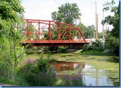 4239 Indiana - Goshen, IN - Lincoln Highway (Chicago Ave) - historic 1898 metal truss Indiana Ave Bridge over Elkhart River