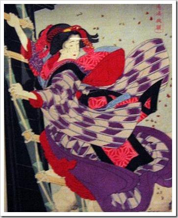 O salvamento de Oschichi (Japão, 1885) de Tsukioka Yoshitoshi (1839-1892).