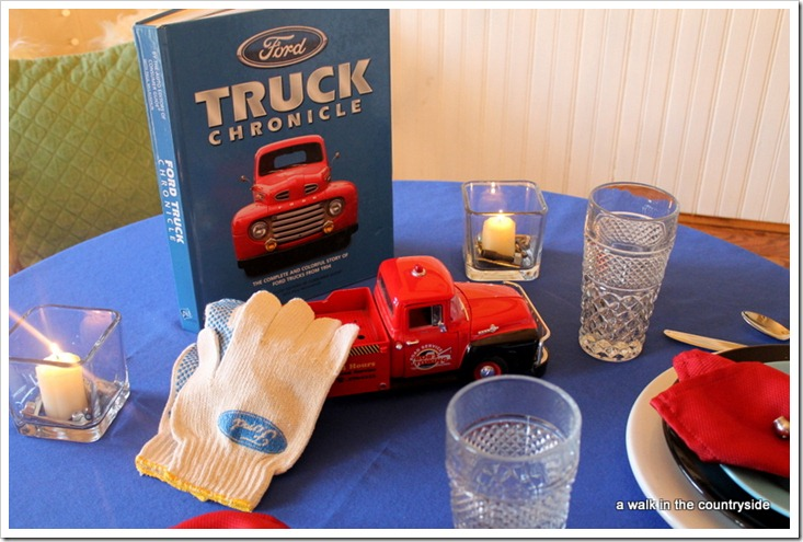 Built Ford Tough tablescape