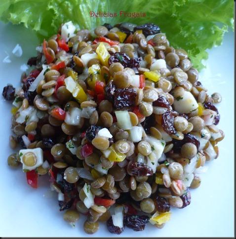 Salada de lentilha - Delicias Frugais