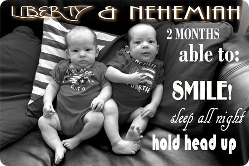 Twins 2 months abilities jpg