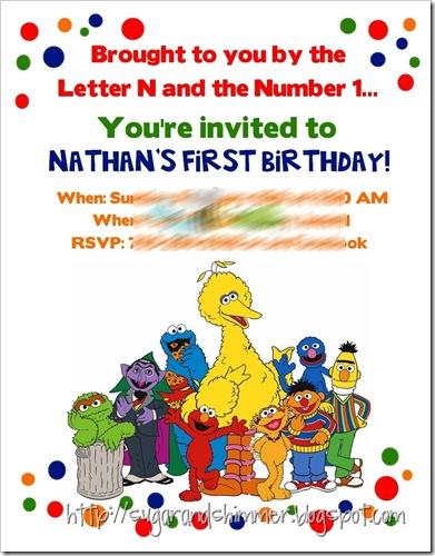 Sesame Street Invite