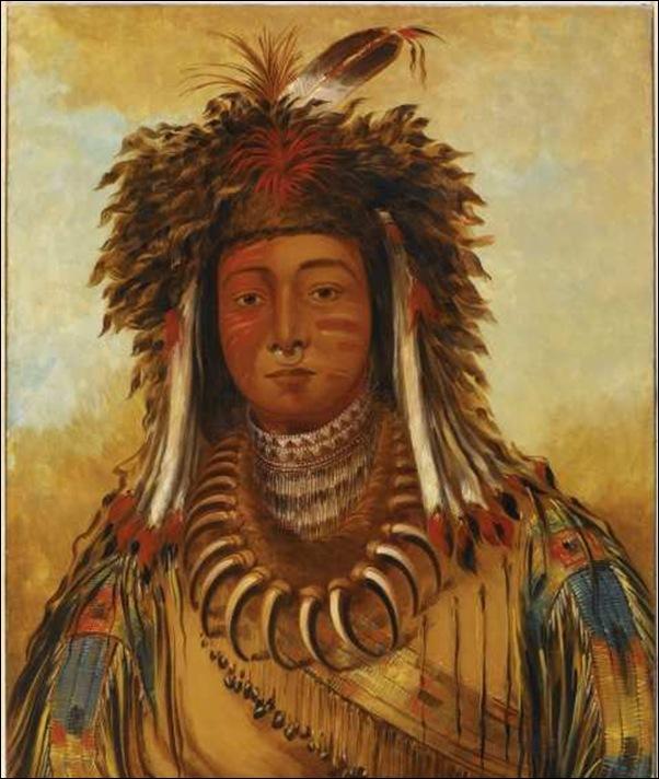 Geoges Catlin, Portrait d'indien
