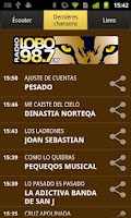 Screenshot of KLOQ Radio Lobo 98.7 FM