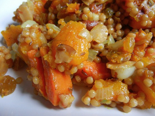 Indian-Spiced Fall Veg with Israeli Couscous