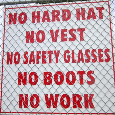 No work sign