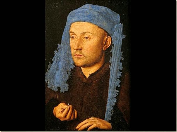 Van Eyck, Portrait au chaperon bleu