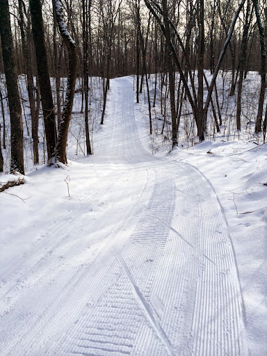 """Ski patrol on North Loup. NL a bit more rough and needs 3-4"""" to have good skiing."""