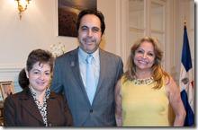 9- Los embajadores de Honduras, Dubai y República Dominicana
