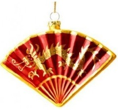 chinese glass fan ornament
