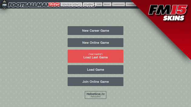 Helveticalite Rebooted Skin for Football Manager 2015