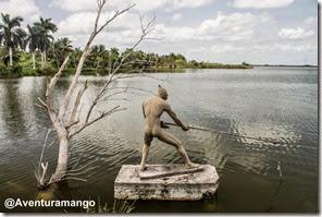 Pescador, Laguna del Tesoro, Cuba