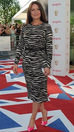 Davina McCall Wear Zebra Print Dress