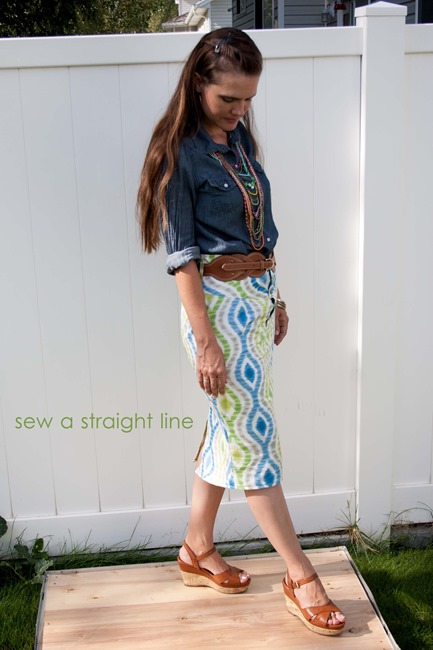 Ikat Skirt Sew a Straight Line-7