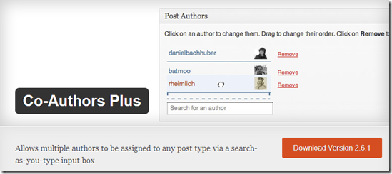 WordPress Plugins For Multi Author Blog - Co-Author Plus