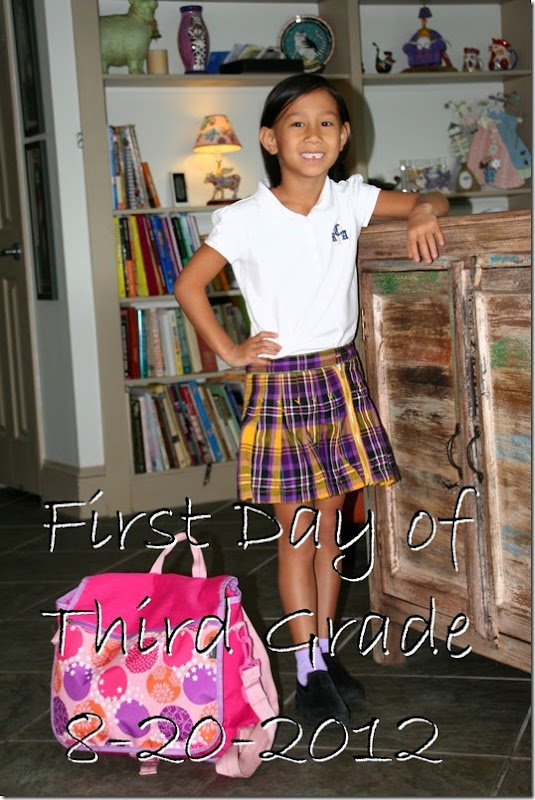 first day 3rd grade