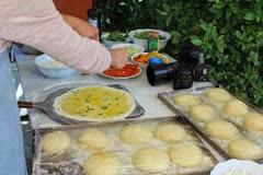 Making Einkorn Pizza in Tuscany
