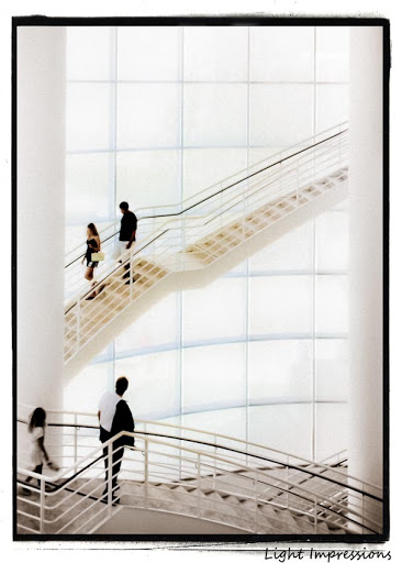 Light Impressions-Getty Museum Stairs