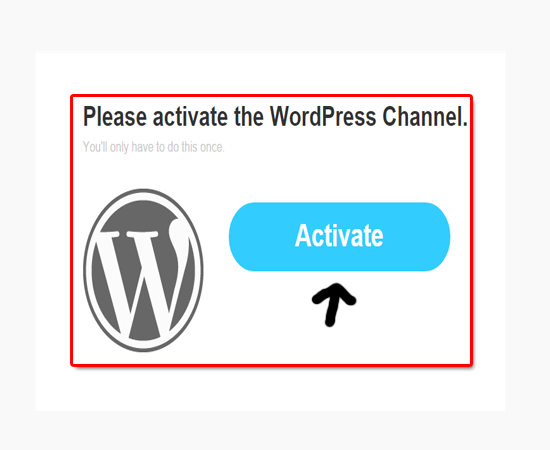 activate-wordpressa-ifttt