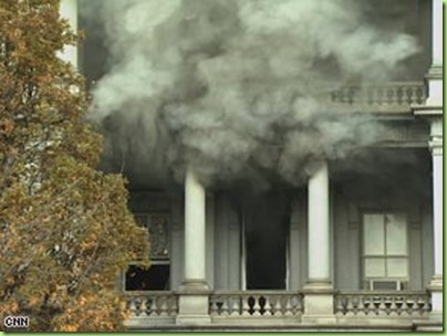 white house smoke and_fire