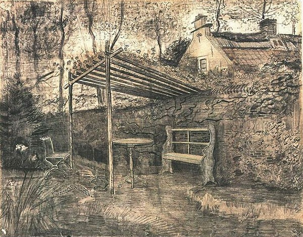 Garden with Arbor - Vincent van Gogh