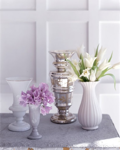 Another selection of trumpet vases. (Martha Stewart Living)