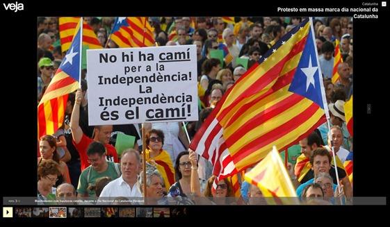 manifestacion de barcelona  110912 Veja Brazil