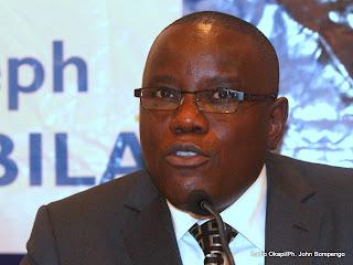 Aubin Minaku, secrétaire général de la majorité présidentielle. Radio Okapi/ Ph. John Bompengo
