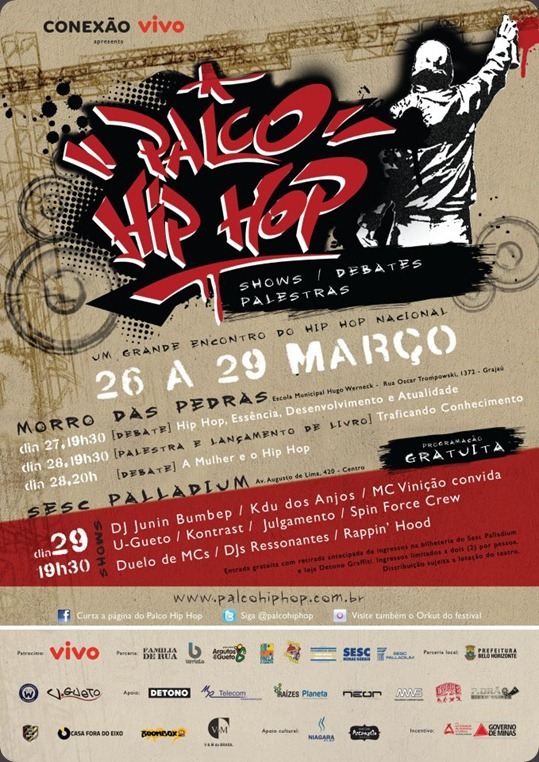 flyer palco hip-hop