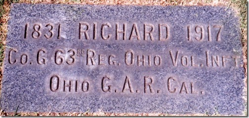 Richard Engle's Grave Marker