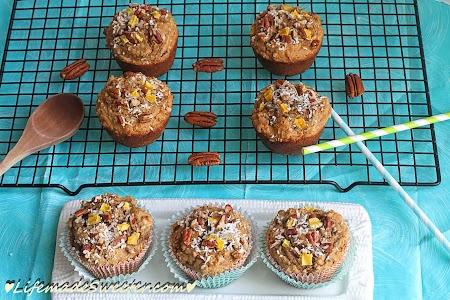 Skinnier Mango Coconut Walnut Muffins
