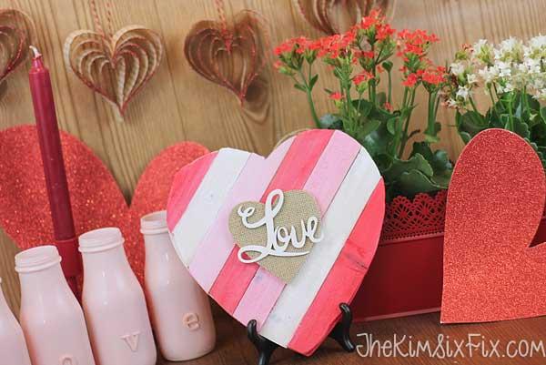 Wooden shim heart