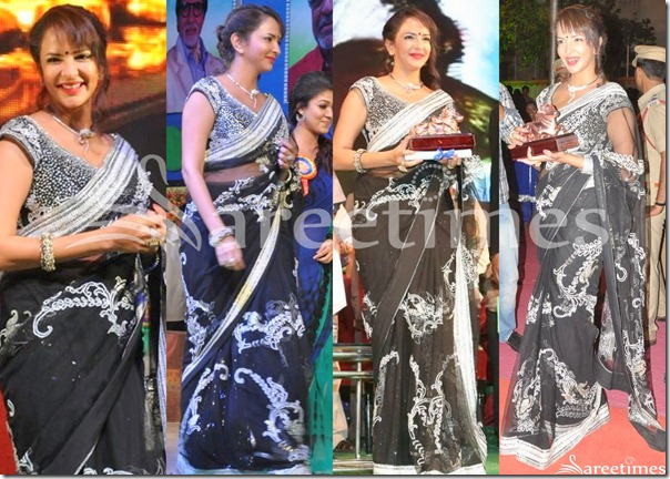 Lakshmi_Prasanna_Black_Embroidery_Saree