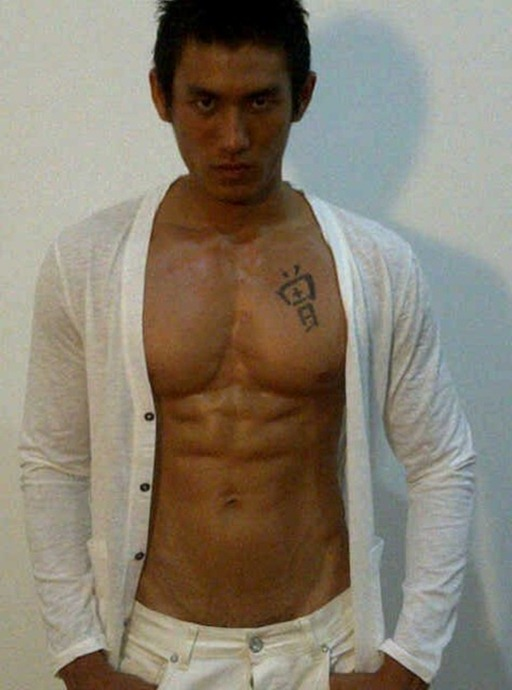 Asianmales-Little Shirtless Sexy with Unknown Male Model-09