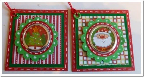 Bright Christmas Tags, Scallop Punch Tags