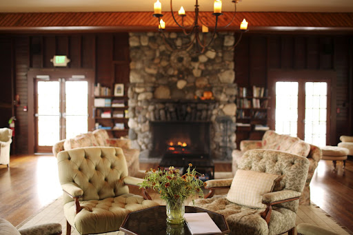 A roaring fireplace provided a great sitting area for guests inside, too.