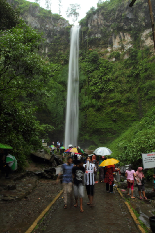 The tall and majestic Cando Ramon Waterfall near Batu, Indonesia