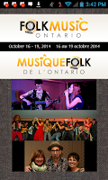 Screenshot of Folk Music Ontario