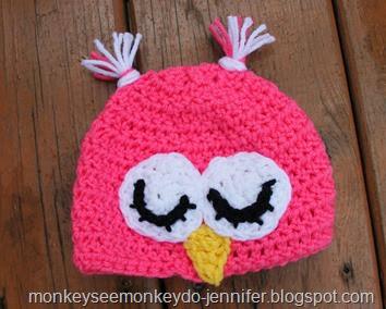 pink owl hat