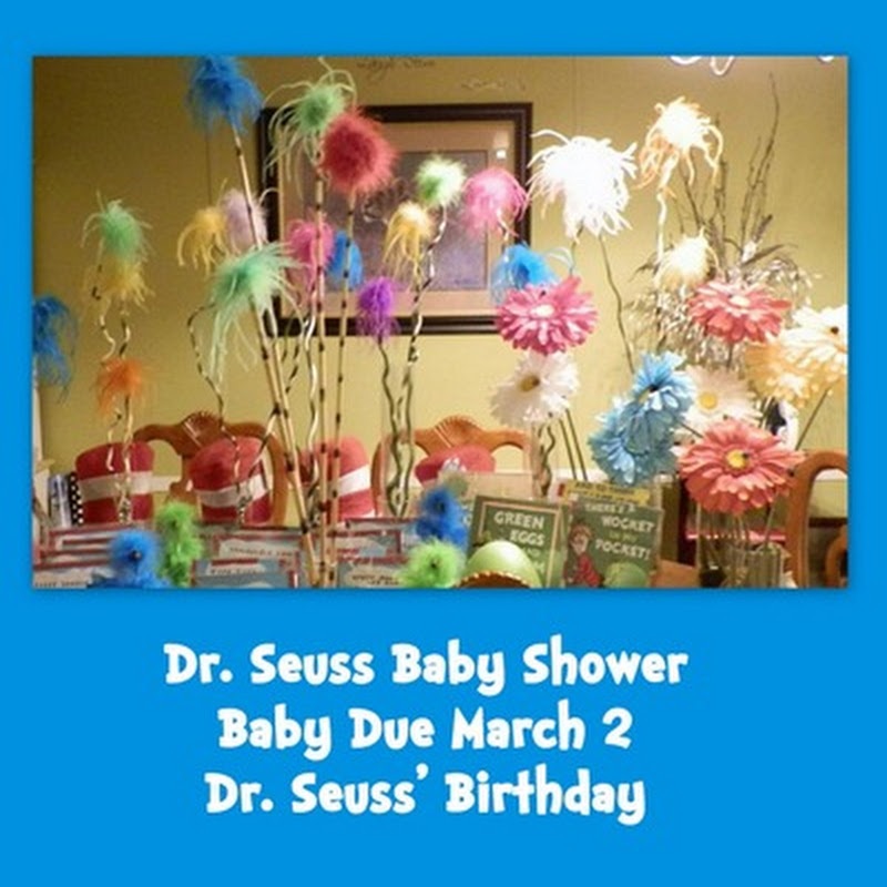 obseussed dr seuss baby shower party