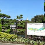 beautiful park at the Shinagawa Aquarium in Shinagawa, Tokyo, Japan