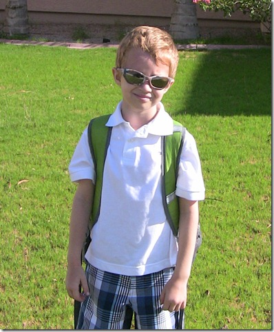 Christian's first day of 1st grade