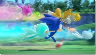 Sonic, Tails e os Wisps