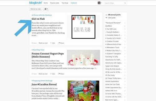 Using The Bloglovin Frame