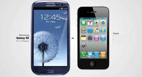 Samsung galaxy S3 vs el iphone 5
