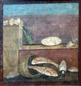 Fresco pompeyano - Salmonetes  y calamares - MANN