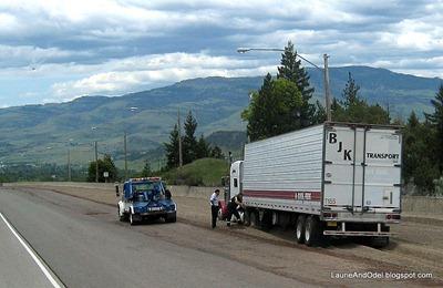 Truck in Runaway Ramp