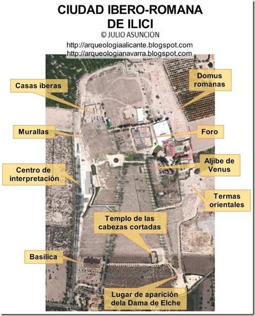 Plano del yacimiento de Ilici - La Alcudia