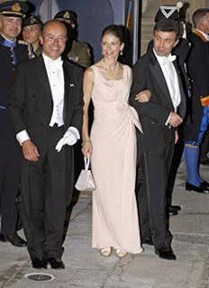 La condesa Isabelle de Lannoy, hermana de la novia, y Jean-Charles de le Court