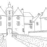 CHATEAU COLORING PAGE